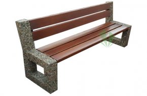 Miejska ławka betonowa