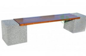 Ławka betonowa Bożena bez oparcia