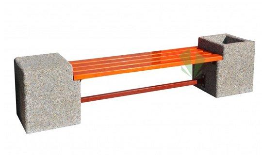 Betonowa ławka z donicą