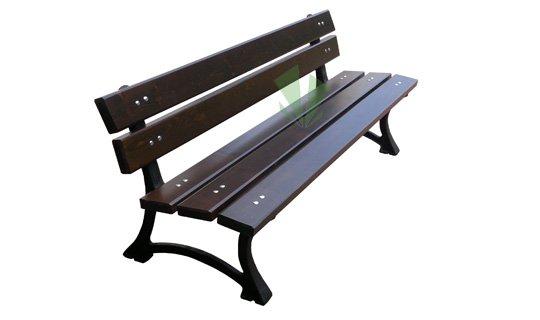 Miejska ławka żeliwna