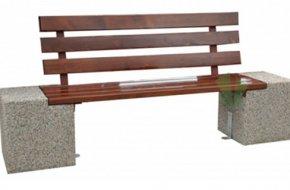 Ławka Bożena z betonu