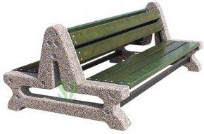 Dwustronna ławka betonowa